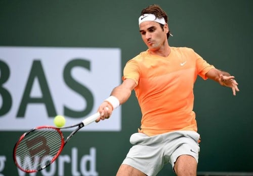 Federer Forehand vs Seppi IW 2015
