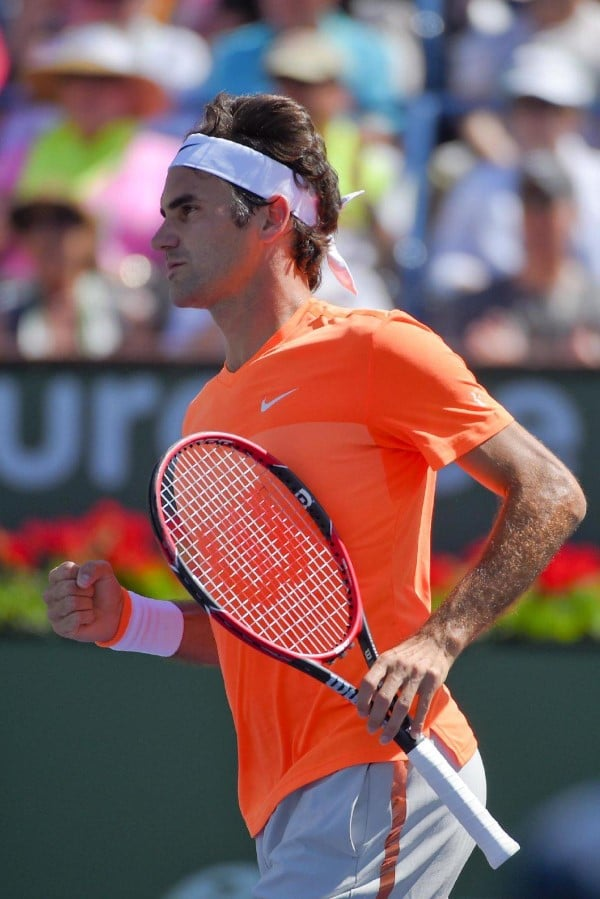 Federer into IW Final 2015