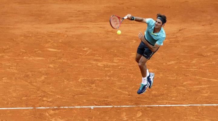 Federer Defeats Chardy Monte Carlo 2015