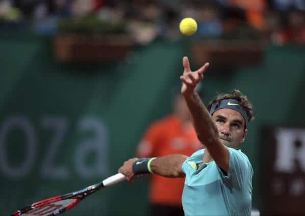 Federer Serving Istanbul 2015