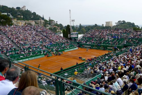 The view of the Centre Court from my seat. The start of Roger's match.