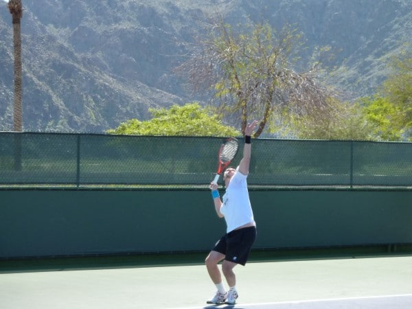 Robin Soderling practicing in 2010