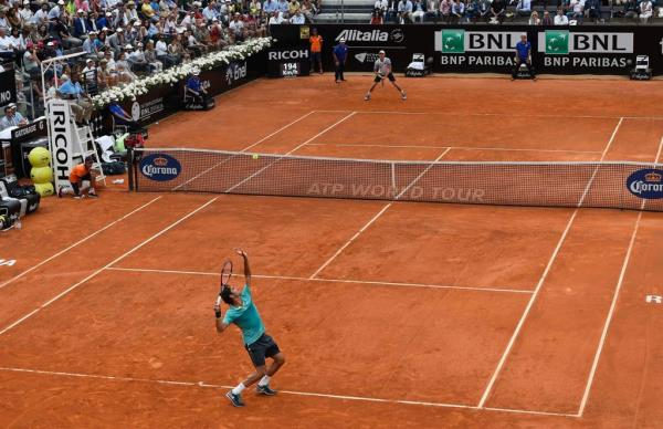Federer Anderson Rome 3rd Round 2015