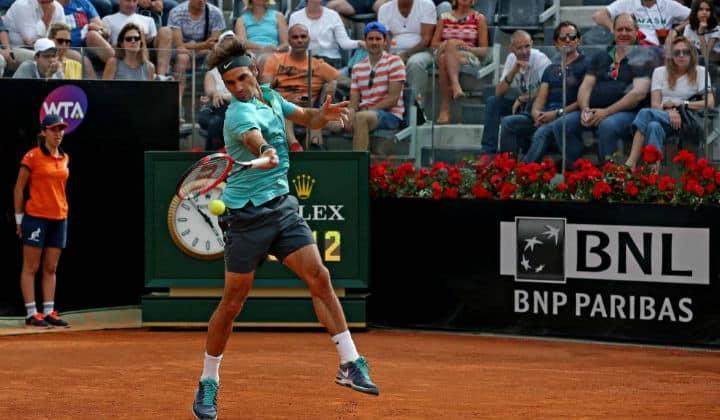Federer Defeats Berdych Rome