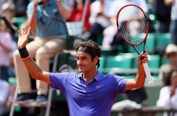 Federer French Open Second Round 2015
