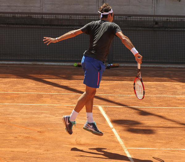 Federer Rome 2015 Practice