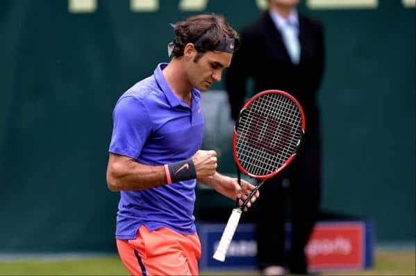 Federer Mayer Halle QF 2015