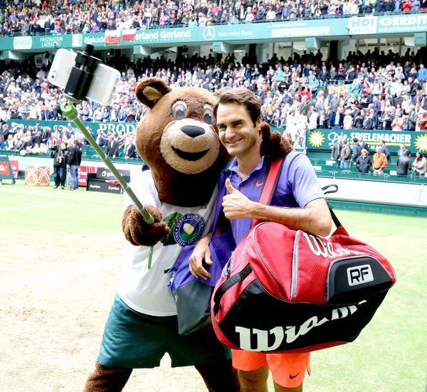 Federer Semi Final Halle 2015