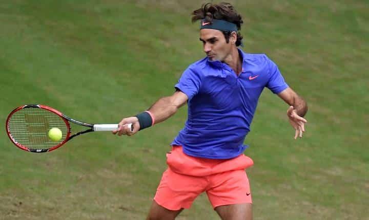Federer defeat Mayer Halle 2015