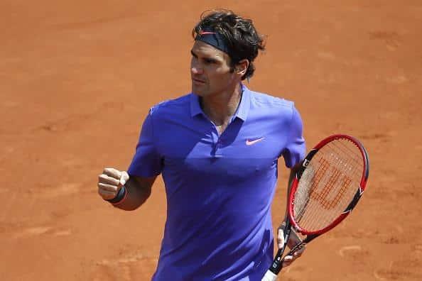 Federer defeat Monfils Roland Garros 2015
