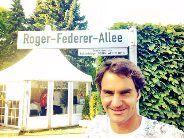 Roger Federer Allee 2015