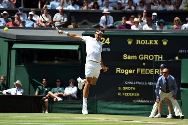 Federer Groth Wimbledon