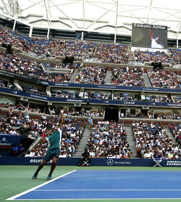 Federer vs Mayer US Open 1st Rnd 2015