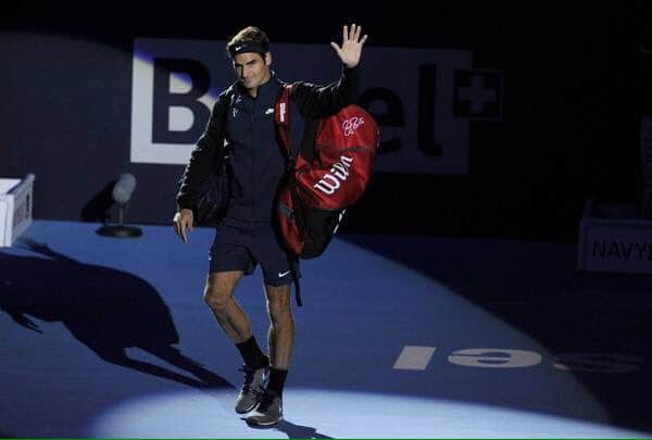 Federer vs Kukushkin Basel 2015