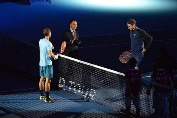 Federer vs Kohli Basel 2015