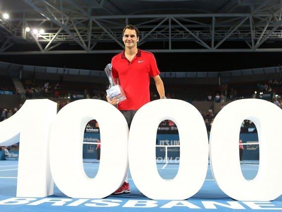 Federer 1000 Wins Brisbane