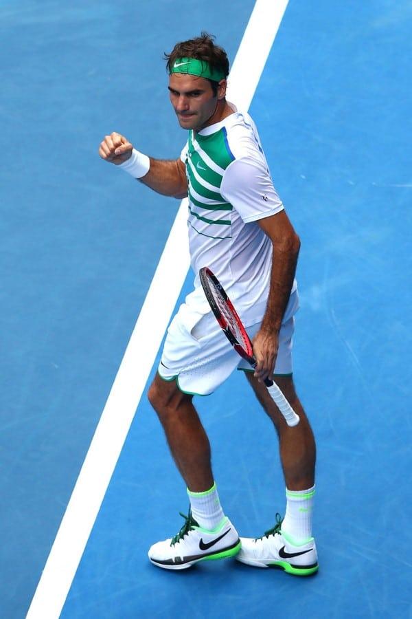 Federer Defeats Dolgopolov Melbourne 2016