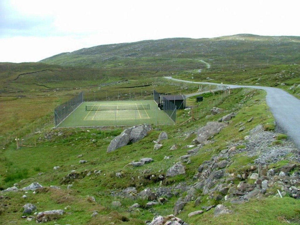 Isle of Harris Scotland Bunabhainneadar Tennis Court