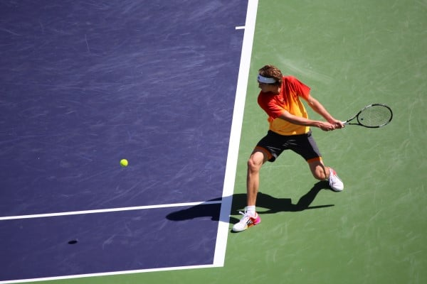 Alexander Zverev on Stadium 1