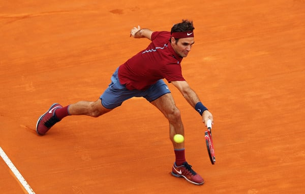 Federer Backhand Flick Rome 2016