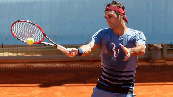 Federer Madrid Practice