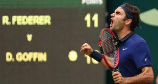 Federer defeat Goffin Halle