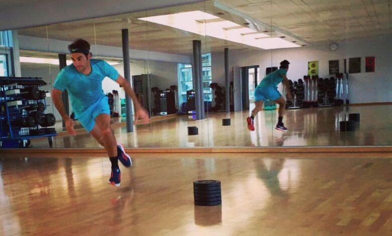 Federer Training Autumn 2016