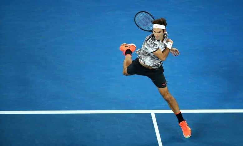 Federer Fearhand vs Wawrinka AO 2017
