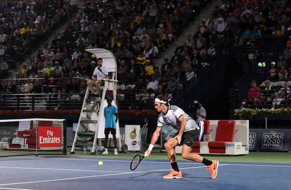 Federer volley Donskoy Dubai