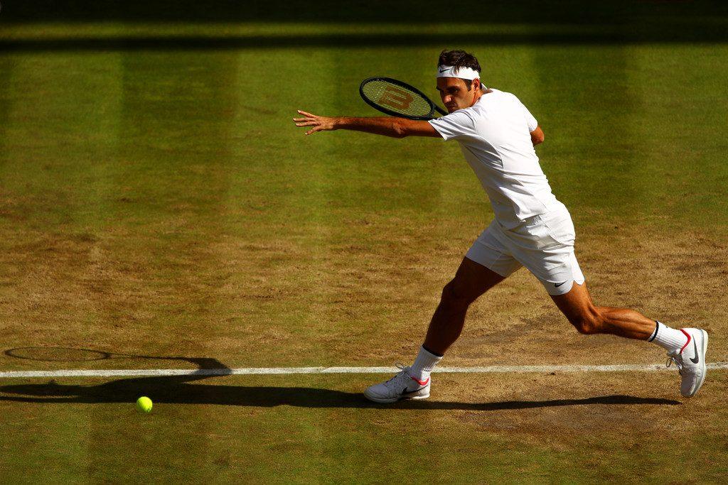 Fed Forehand Berdych Wimbledon