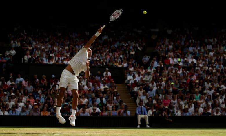 Federer Dimitrov 4th Round Wimbledon