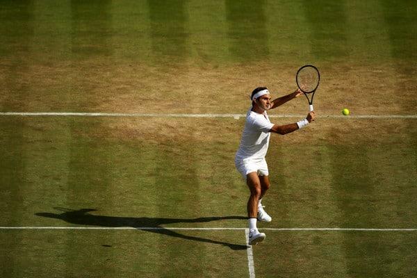 Federer Volley Wimbledon 4R 2017