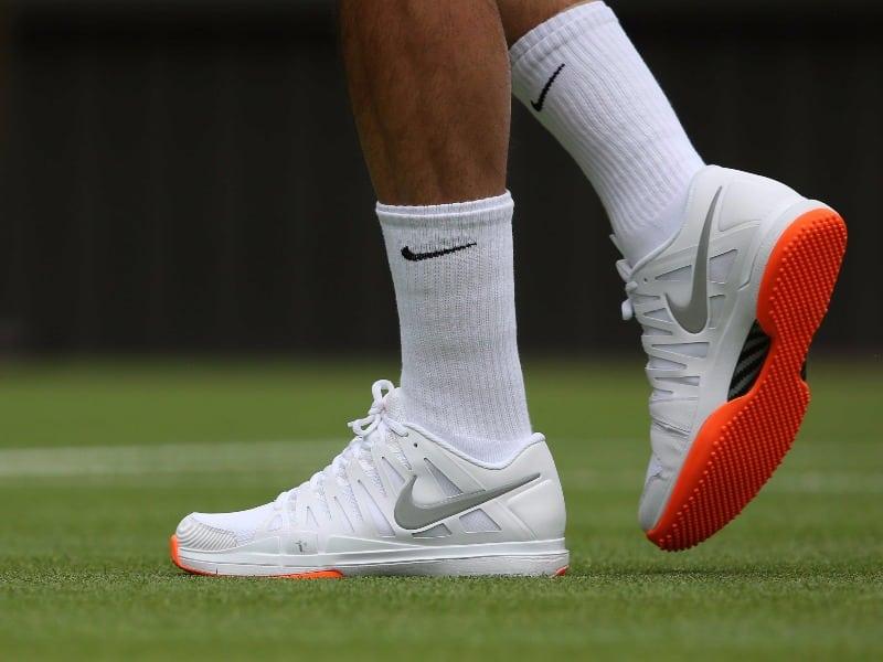 federer-orange-shoes