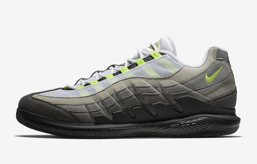 best website 1d73c 8dcee Federer Nikecourt RF x Air Max 95 Neon