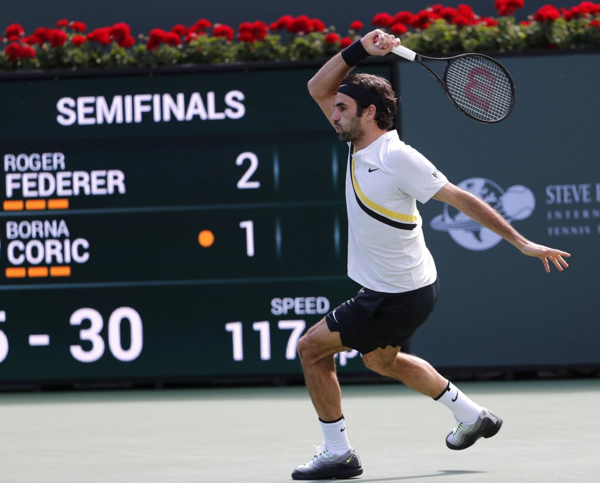 Federer Coric Indian Wells
