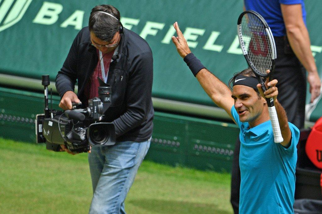 Federer Win Halle SF 2018