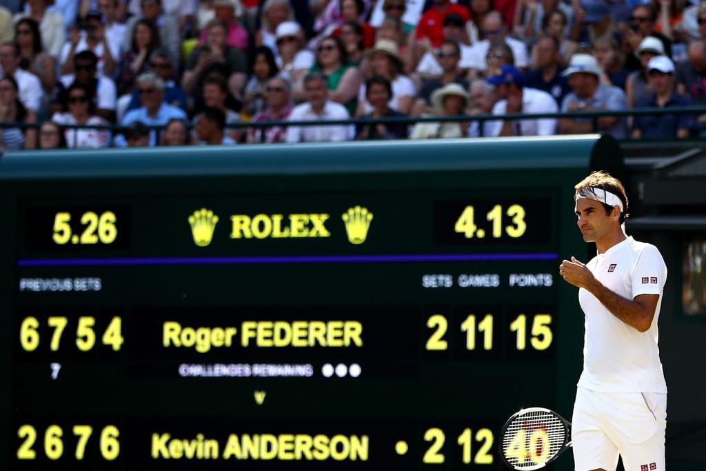Federer Wimbledon QF 2018