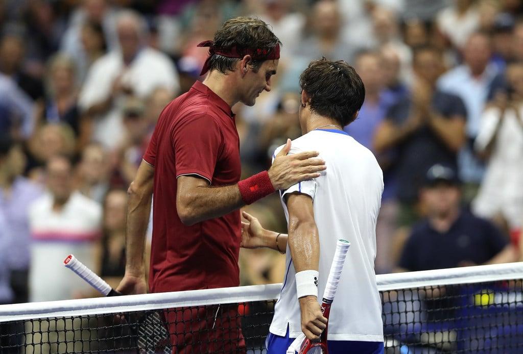 Federer US Open Nishioka
