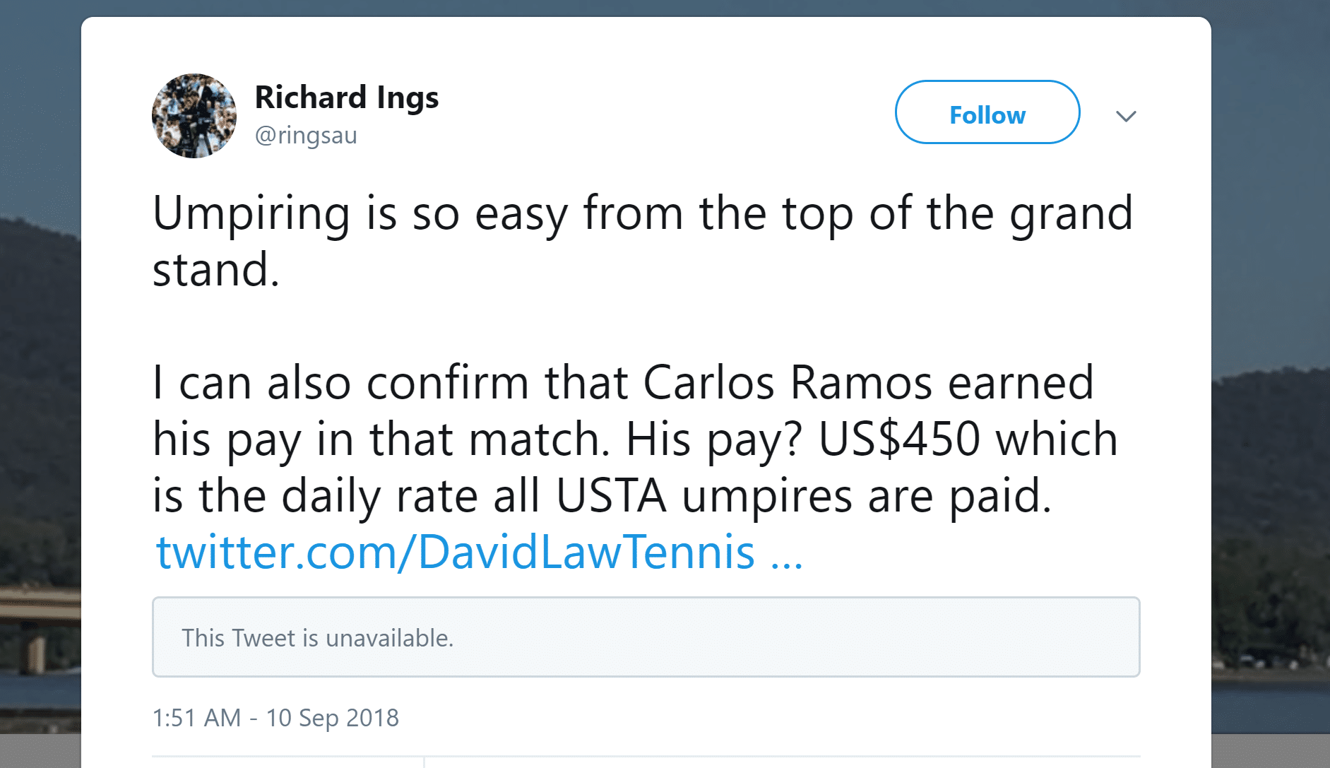 Richards Ings Former Umpire