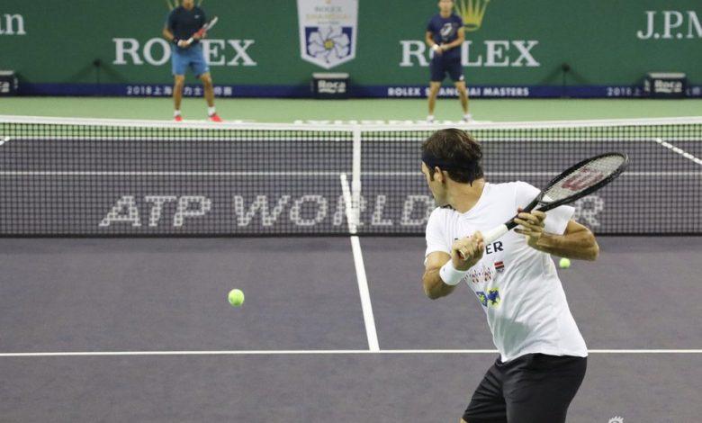 Federer Shanghai Practice 2018