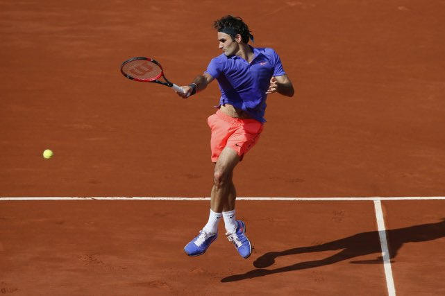 Federer on Clay