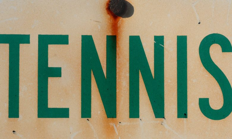 Sign with the word Tennis on it
