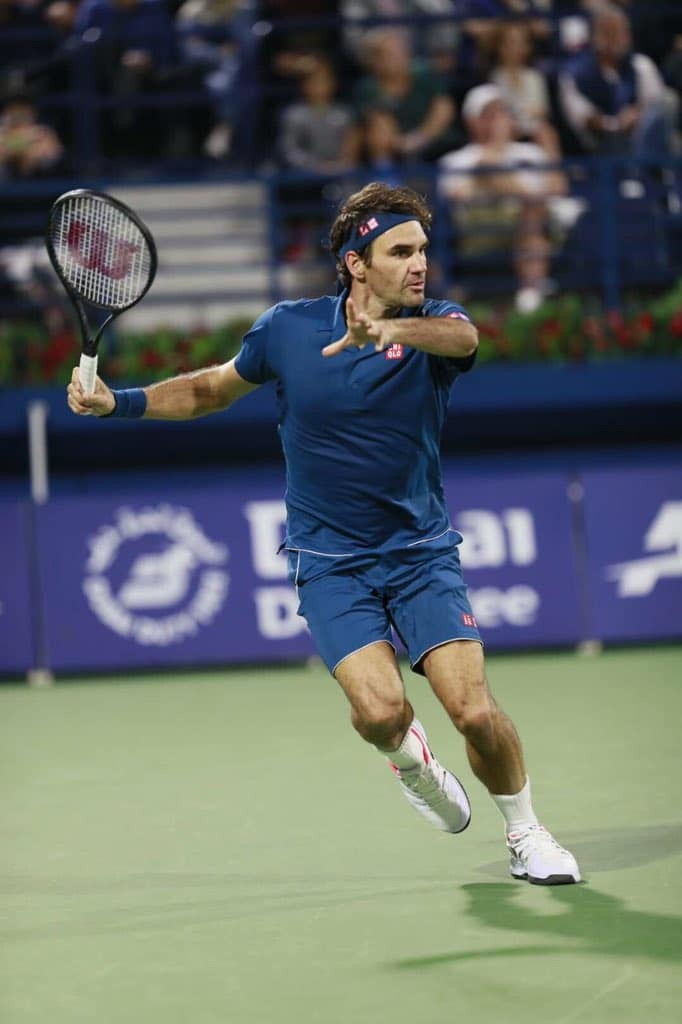 Federer Verdasco Dubai 2019