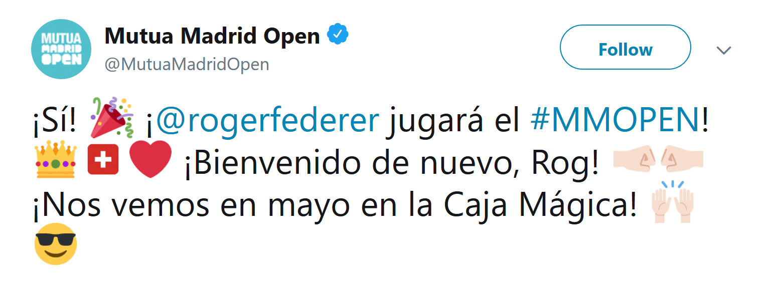 madrid open 2019 federer