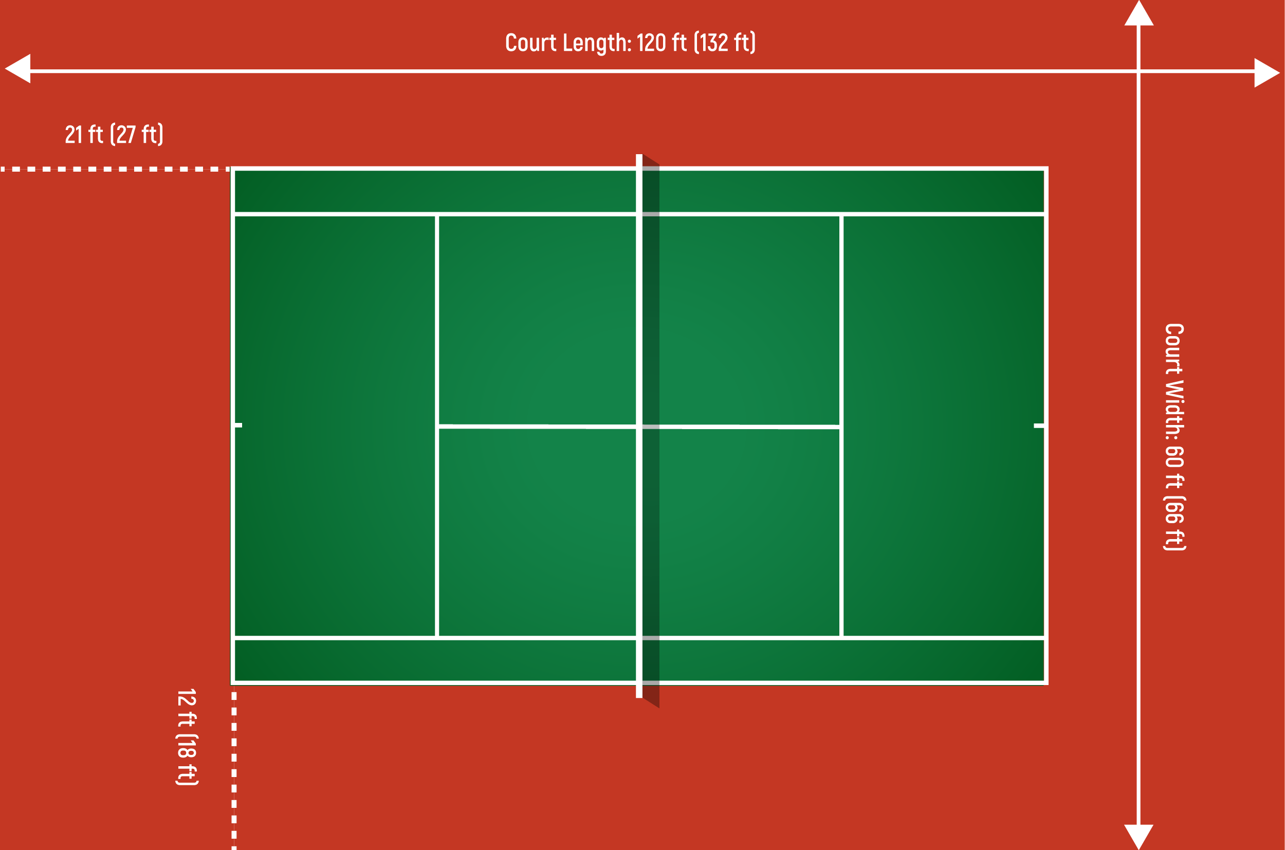 tennis court recommended dimensions