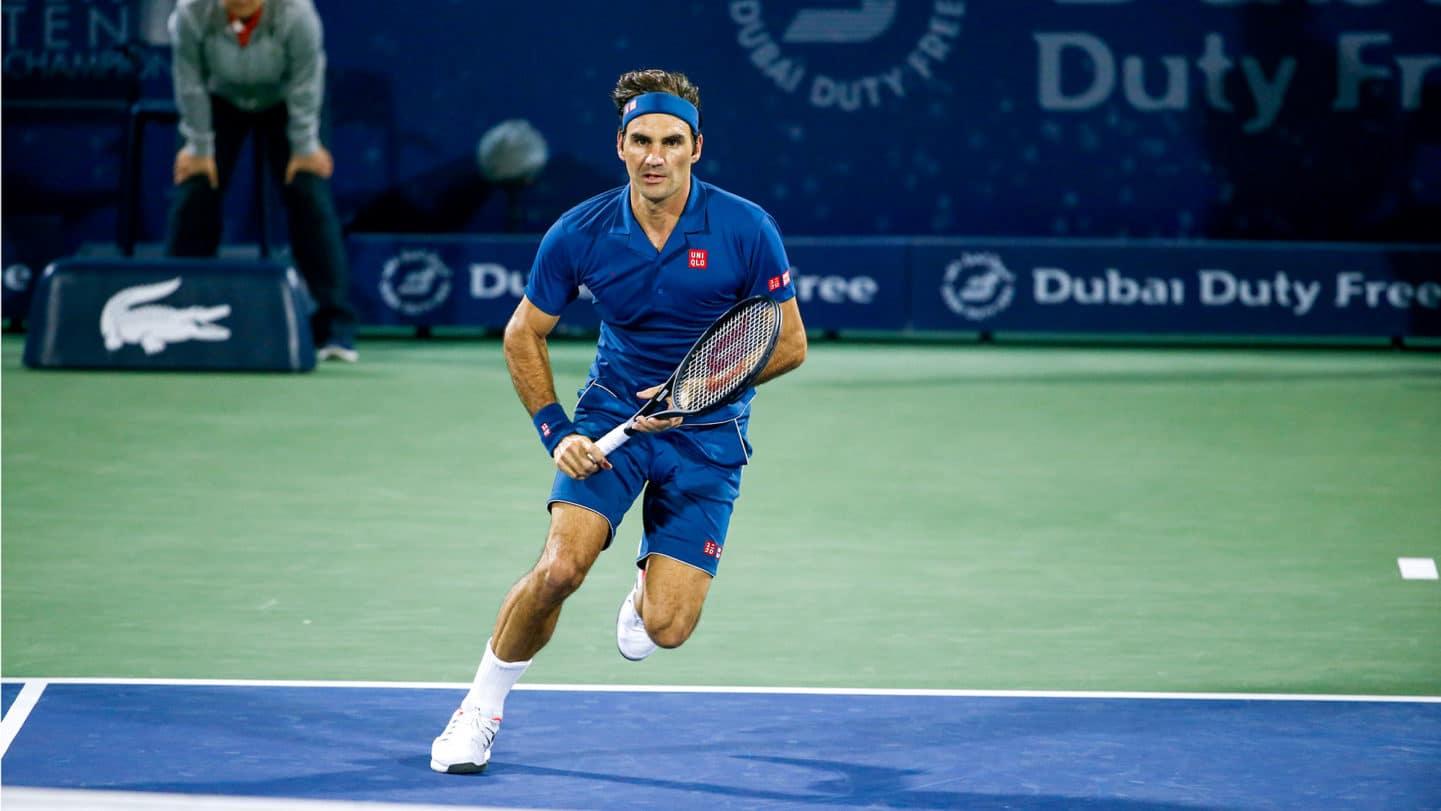 Federer Coric Dubai SF