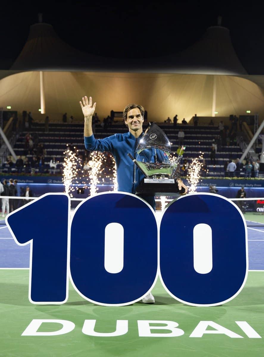 Federer Dubai Title 100