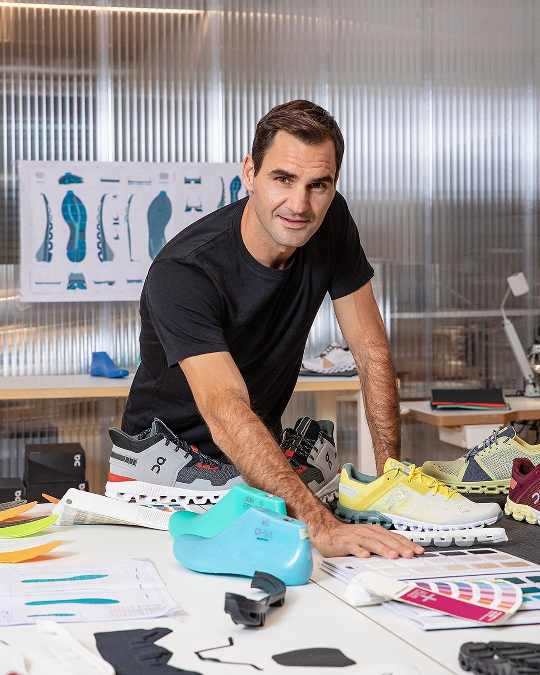 Federer On Running Sponsor