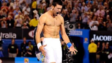 Photo of Novak Djokovic vs. Rafael Nadal. Australian Open 2012