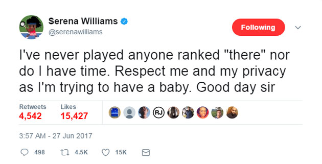 Serena Tweet 2